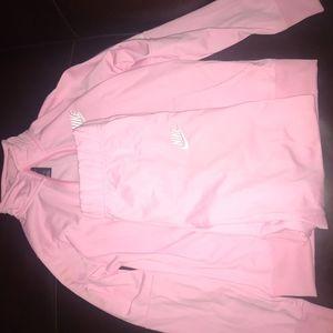 Pink Nike tracksuit sz (XL kids or Women's S/M)